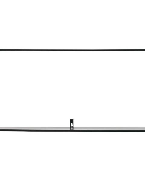 WOOOD Čierna nástenná polica WOOOD Meert, dĺžka 70 cm