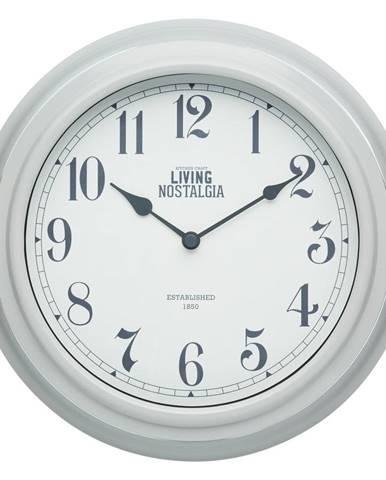 Nástenné hodiny Kitchen Craft Living Nostalgia Grey, ⌀ 25,5 cm