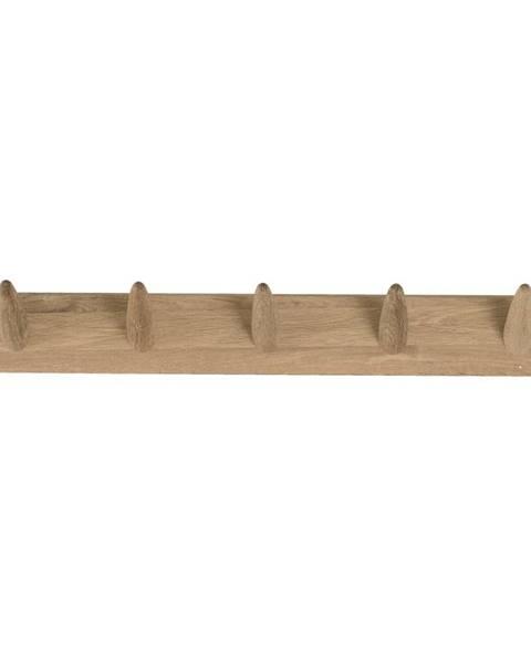 Canett Nástenný vešiak na oblečenie z dubového dreva Canett Uno, šírka 60 cm