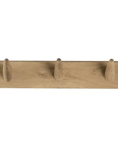 Nástenný vešiak na oblečenie z dubového dreva Canett Uno, šírka 40 cm