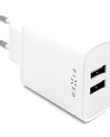Nabíjačka do siete Fixed 2xUSB, 15W Smart Rapid Charge biela