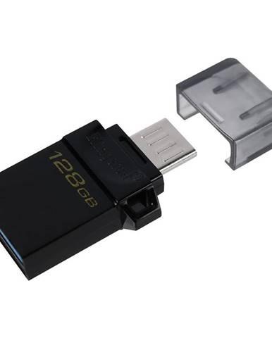 USB flash disk Kingston DataTraveler microDuo3 Gen2 128GB čierny