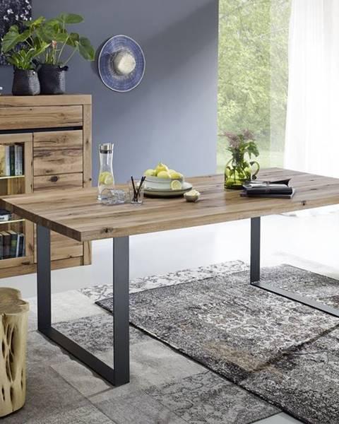 Bighome.sk VEVEY Jedálenský stôl 160x90 cm, tmavohnedá, dub