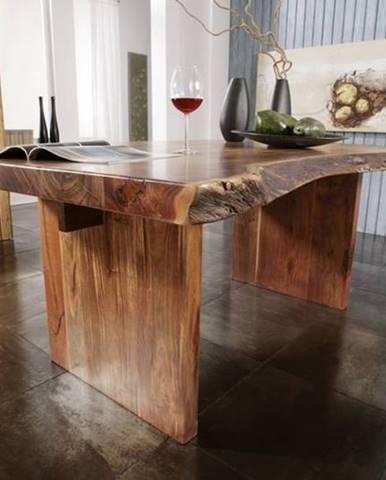 METALL Jedálenský stôl 230x110 cm, akácia