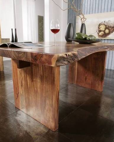 METALL Jedálenský stôl 250x110 cm, akácia