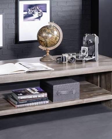 ROUND Konferenčný stolík 130x70 cm, dymová, palisander