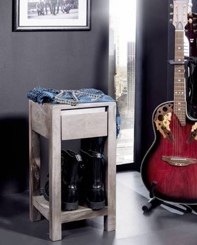 ROUND Príručný stolík 30x30x60 cm, dymová, palisander