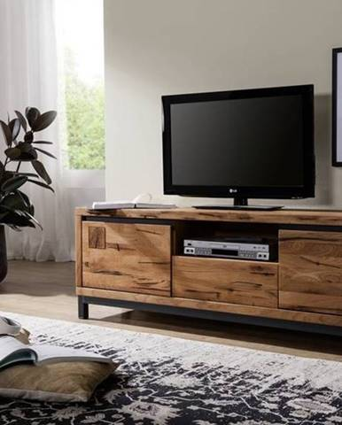 TIROL II. TV stolík 170x56 cm, tmavohnedá, dub