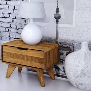 SKANE Nočný stolík I. 30x47 cm, dub, prírodná