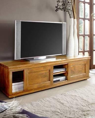 CAMBRIDGE HONEY TV stolík 160x45 cm, akácia