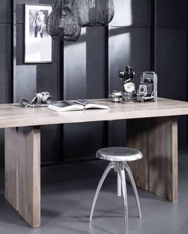 ROUND Jedálenský stôl 160x90 cm, dymová, palisander
