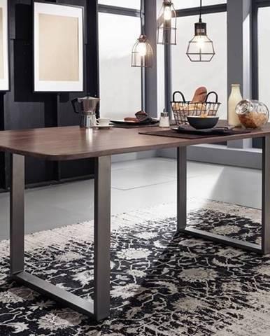 ROUND Jedálenský stôl 177x90 cm, dymová, palisander