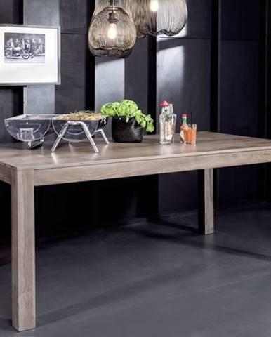 ROUND Jedálenský stôl 200x100 cm, dymová,palisander
