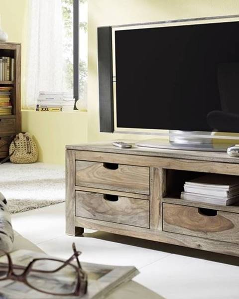 Bighome.sk GREY WOOD TV stolík 108x45 cm