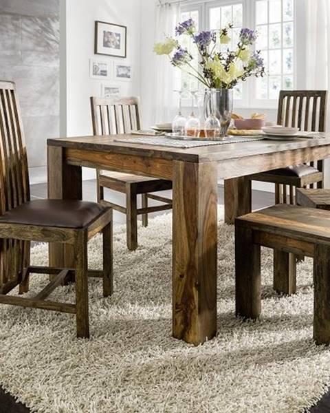 Bighome.sk PLAIN SHEESHAM Jedálenský stôl 180x100 cm, palisander