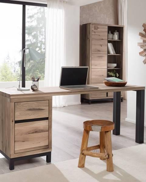 Bighome.sk TIROL Písací stôl 180x55 cm, svetlohnedá, dub