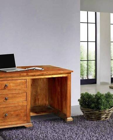 CAMBRIDGE HONEY Písací stôl 130x80 cm, akácia