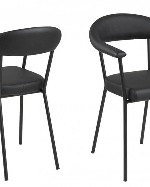 Bighome.sk Jedálenská stolička s opierkami AVA, čierna