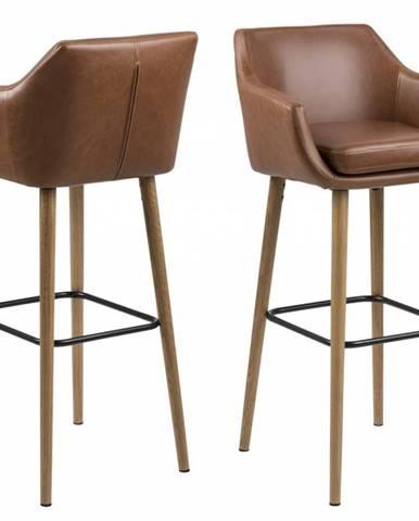 Barová stolička NORA, hnedá