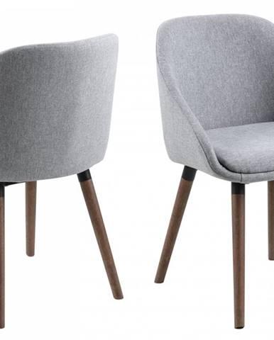 Jedálenská stolička NILS, sivá