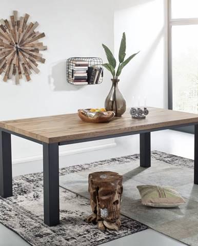 TIROL Jedálenský stôl 240x100 cm, tmavohnedá, dub