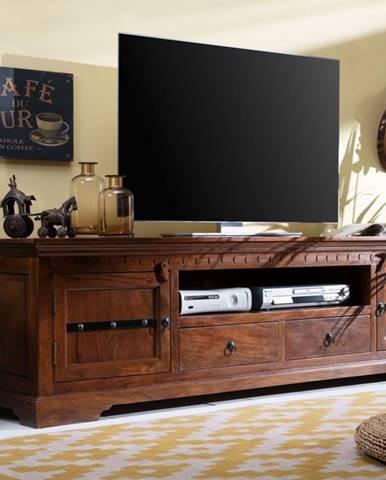 CAMBRIDGE TV stolík 200x55 cm, akácia