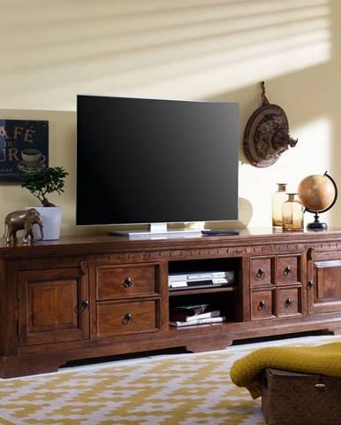 CAMBRIDGE TV stolík 220x55 cm, akácia