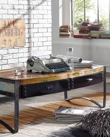 INDUSTRY Konferenčný stolík so šuplíkmi 120x60 cm, staré drevo