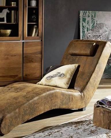 SPLAN Relaxačné kreslo, hnedá