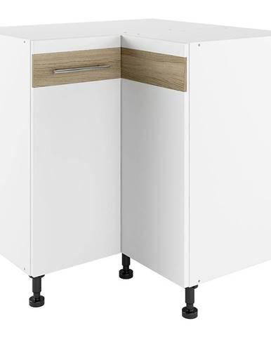 Kuchynská skrinka Luna Lignum Bianco Super Mat PNO 90