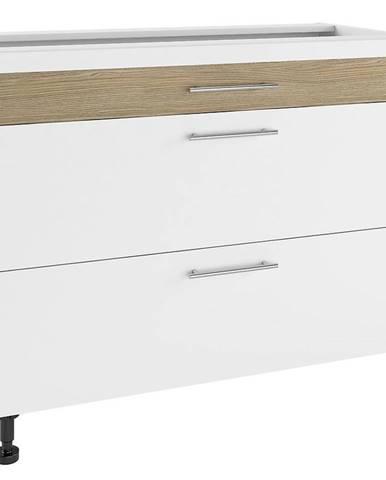 Kuchynská skrinka Luna Lignum Bianco Super Mat PSZ 100/3