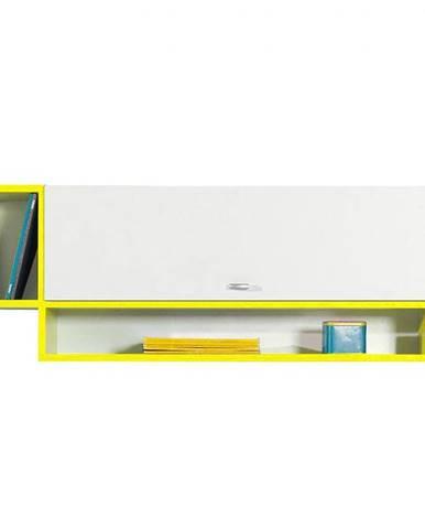 Polička Mobi MO-13 bielo žltá
