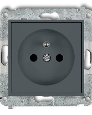 Zásuvka jednoposteľová Z/U grafit mat 28MGP-1ZP