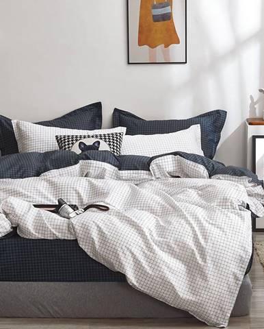 Bavlnená saténová posteľná bielizeň ALBS-01220B 160X200