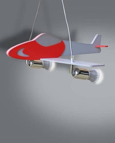 Lampa lietadlo červená/strieborná L2-27 LW2