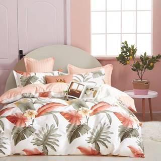 Bavlnená saténová posteľná bielizeň ALBS-01230B 140X200