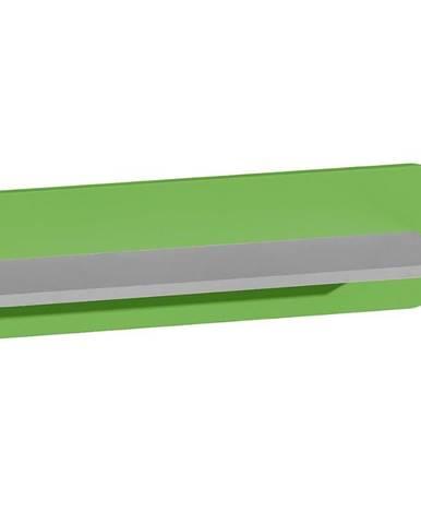 Polička Futuro F10 Zelená/Biely/Grafit