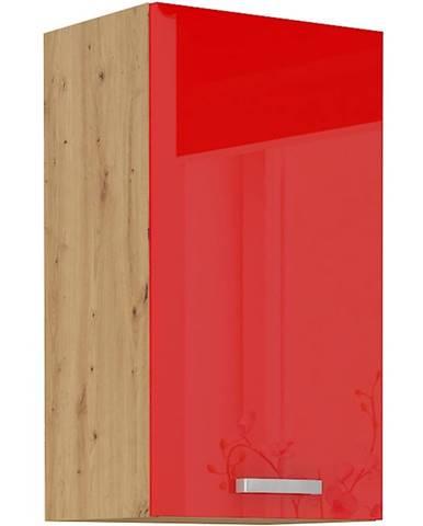 Skrinka do kuchyne Artisan červená lesk 40G-72 1F