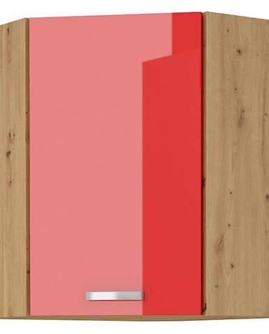 Skrinka do kuchyne Artisan červená lesk 58X58 GN-72 1F