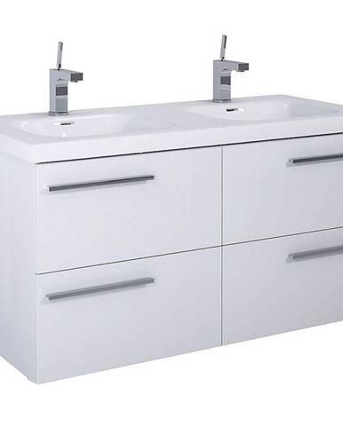 Kúpeľňová skrinka pod umývadlo Royal 120 4S biela DSM
