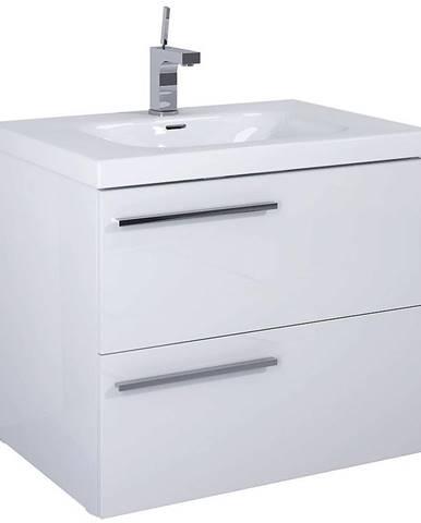 Kúpeľňová skrinka pod umývadlo Royal  70 2S biela DSM
