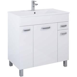 Kúpeľňová skrinka Uno Kyra 80 3D 1S white