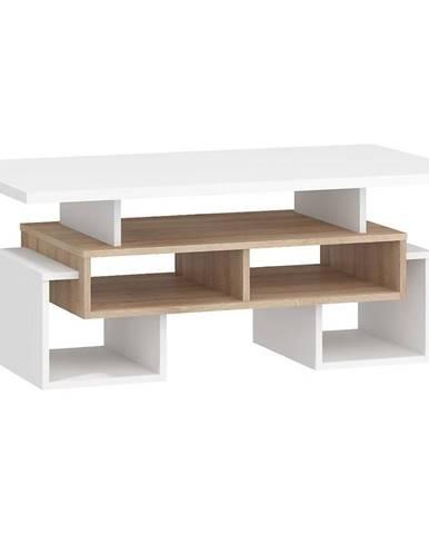Konferenčný stolík S Rio-12 sonoma svetlý/biely