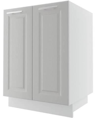 Kuchynská skrinka Emporium D11/60 light grey stone/biela