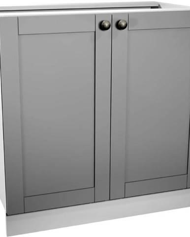 Kuchynská skrinka Linea D80 grey