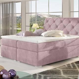 Beneto 160 čalúnená manželská posteľ s úložným priestorom ružová (Omega 91)