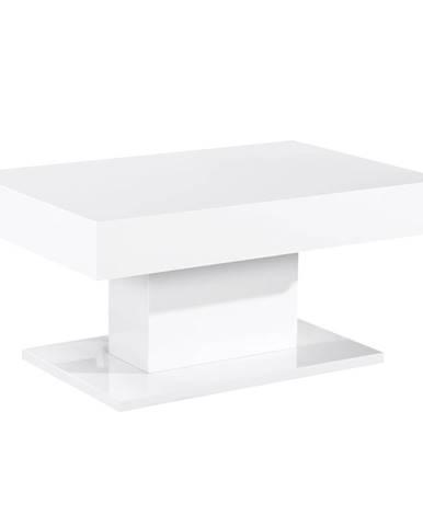 Dikaro konferenčný stolík biely vysoký lesk
