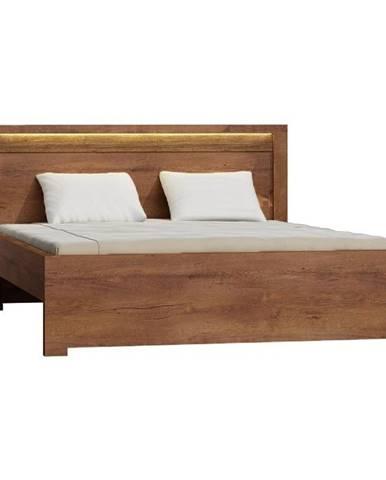 Infinity 19 160 manželská posteľ s roštom jaseň svetlý