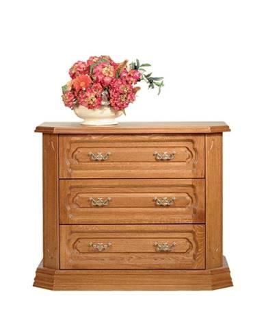 Kinga rustikálny nočný stolík drevo D3