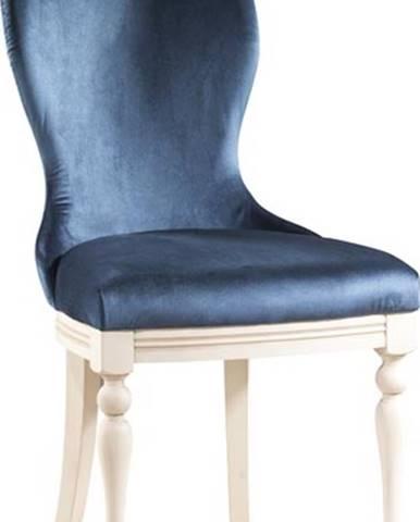 Krzeslo U3 jedálenská stolička tmavomodrá (Velvet-B1 261)